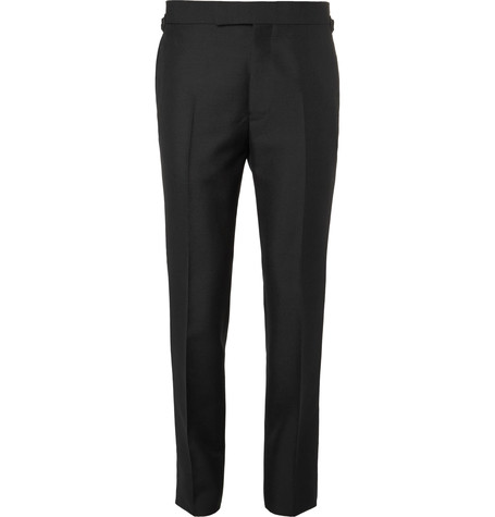 Kingsman x Eggsy's Black Wool And Mohair-Blend Tuxedo Trousers