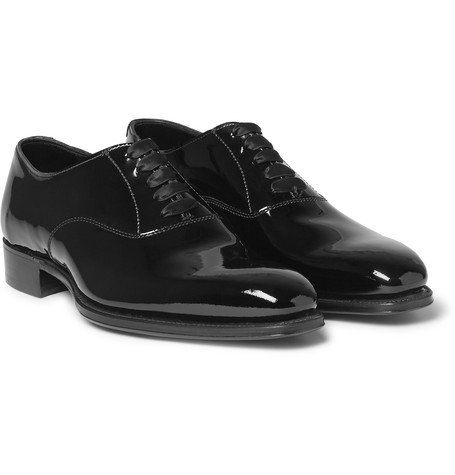 Kingsman x George Cleverley Patent-Leather Oxford Shoes