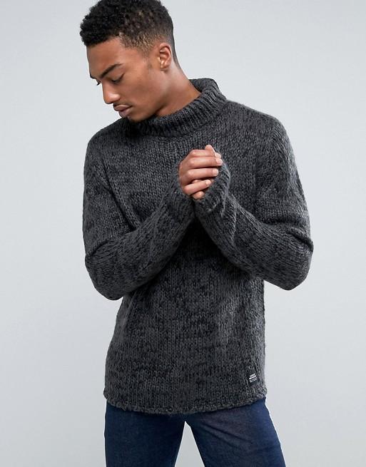 Black Men's Knitted Jumper