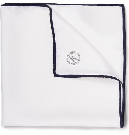 Plain White Pocket Square
