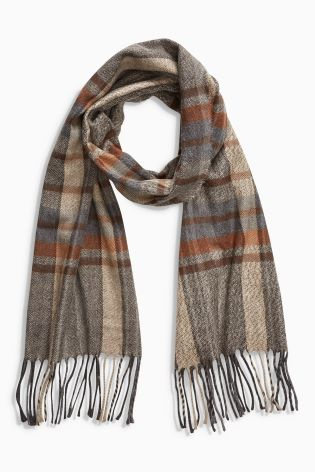 Brown Grindle Check Scarf