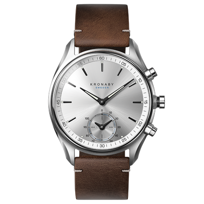 Kronaby Watch - Sekel Sterling Stainless Brown - Front.png