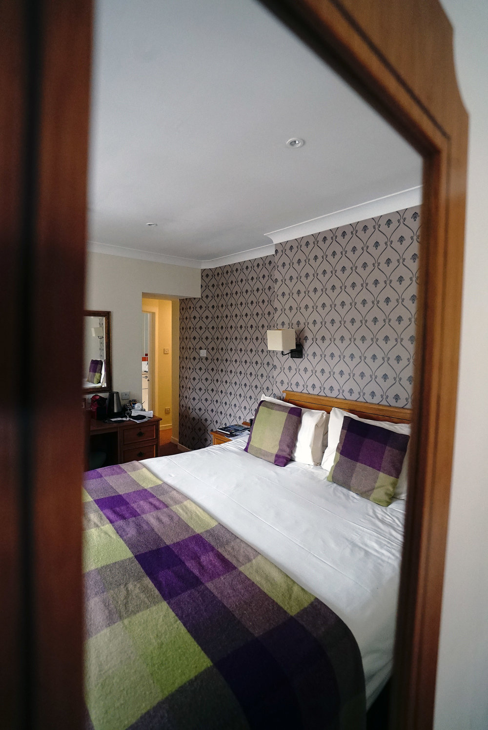 Mercure Peebles Bedroom Through Mirror.jpg