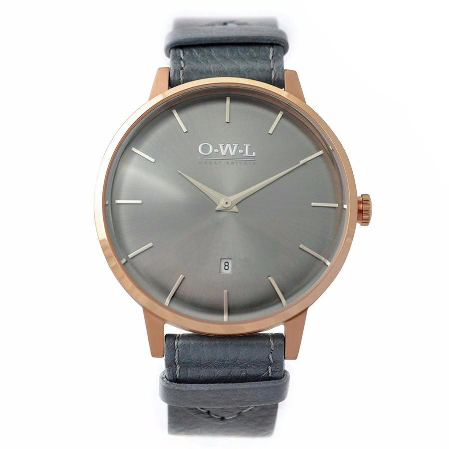 OWL Rose Gold & Dark Grey Watch.jpg