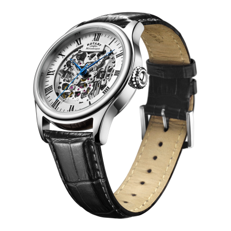 Rotary stainless steel skeleton watch.jpg