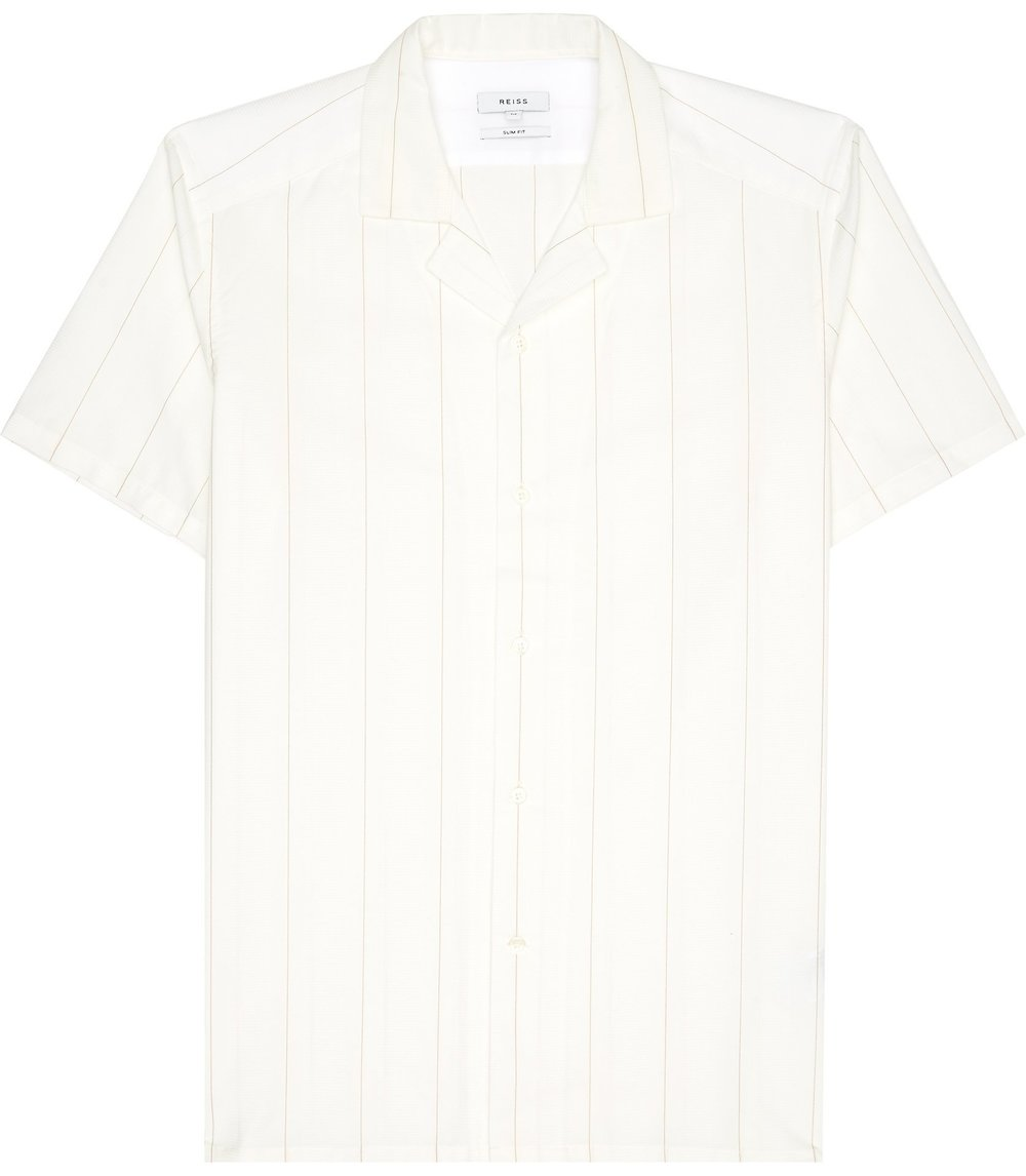 REISS CUBAN COLLAR SHIRT