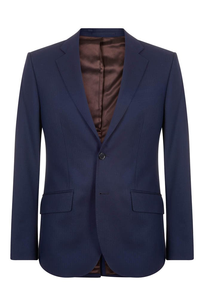 Hawkins & Shepherd 100% British Wool Navy Herringbone Suit