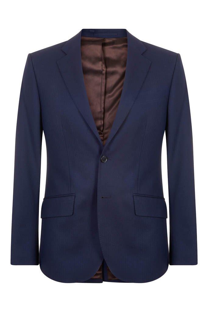 Hawkins & Shepherd 100% British Wool Navy Herringbone Suit