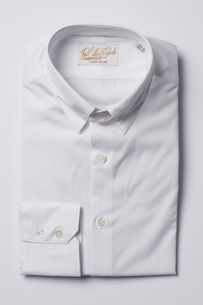 Hawkins & Shepherd White Tab Collar Shirt