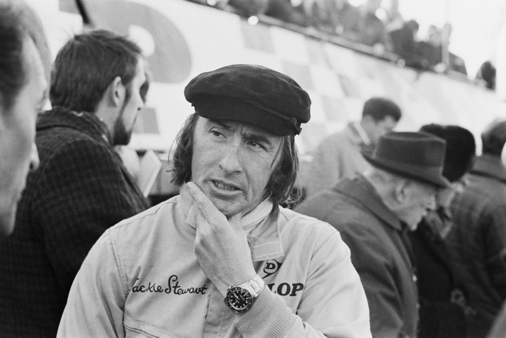 ©Norman Quicke/Daily Express/Getty Images CHAMPION RACING DRIVER JACKIE STEWART, UK, 6th MARCH 1970