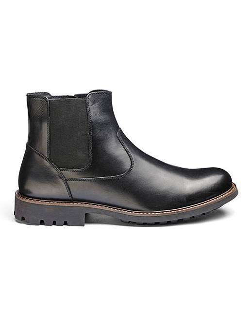 LEATHER CHELSEA BOOTS STANDARD FIT