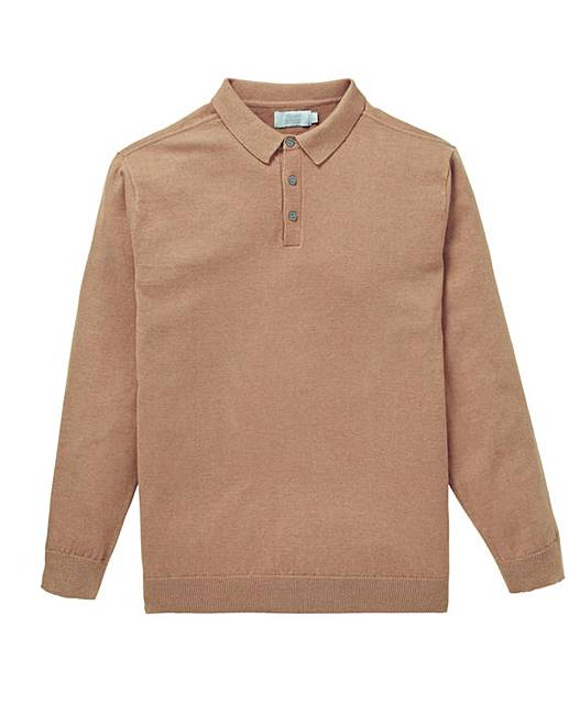 W&B CAMEL SILK MIX JUMPER REGULAR