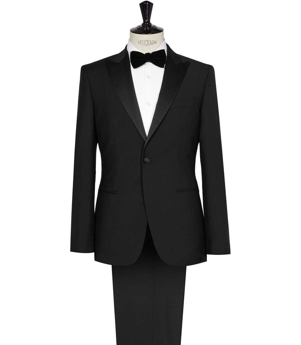 Reiss Black Tuxedo Suit