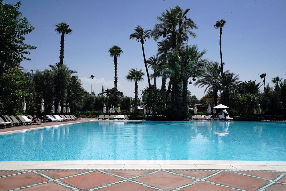 La Mamounia Morocco Outdoor Swimming Pool 3.jpg