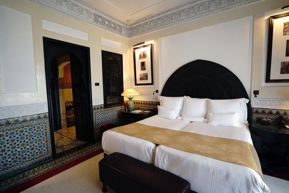 La Mamounia Morocco Bedroom With Ensuite Bathroom.jpg