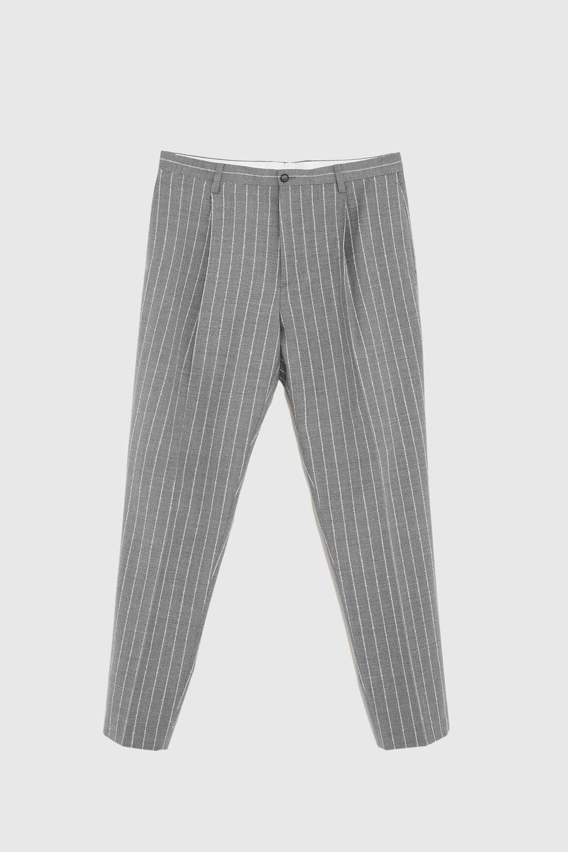 Zara Grey Pinstripe Trousers