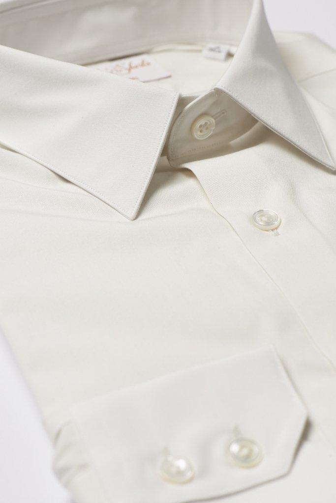 Cream Ivory Ecru Shirt by Hawkins & Shepherd