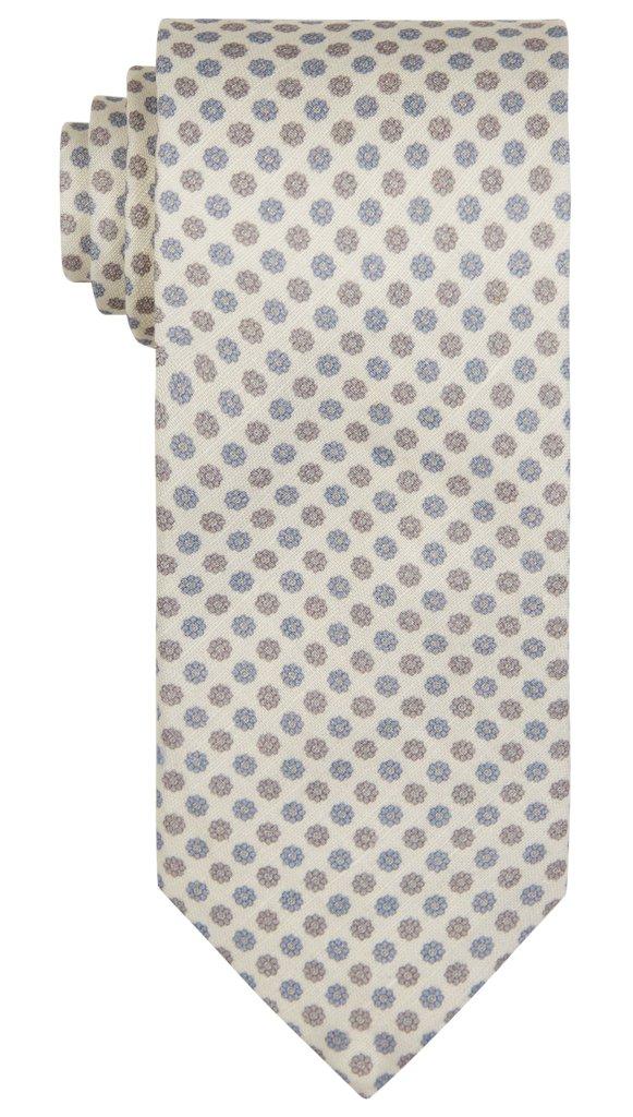 Cream Tie Pattern by Hawkins & Shepherd