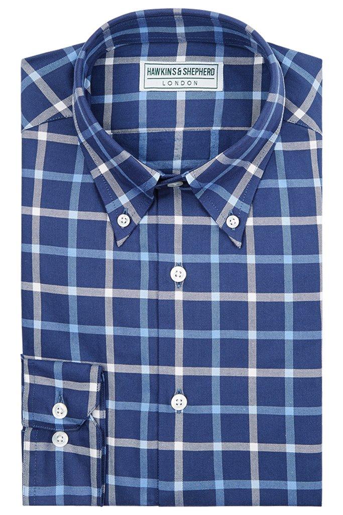 Navy Check Button down shirt