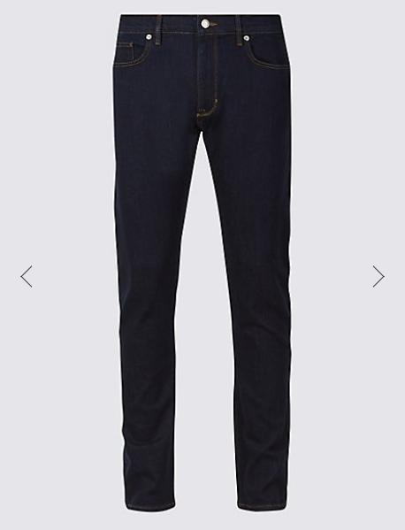 Indigo Skinny Fit Stretch Jeans