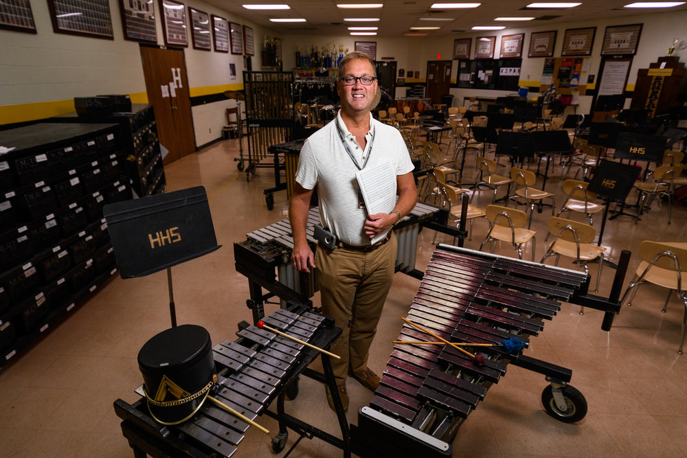 """…many still see [the arts] as extra things instead of the essential part for a student's complete education."" Dr. Jeffrey Phillips has taught for 26 years at Hendersonville High School."