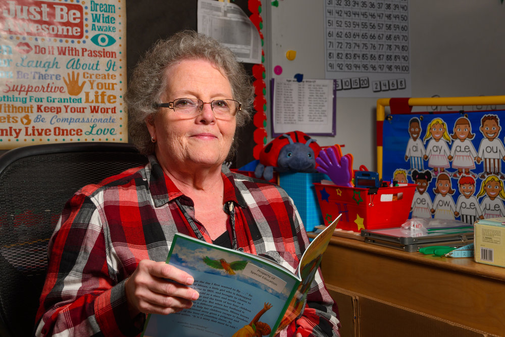 """It's inspiring to watch children grow when we help them fill the gaps."" Janet Baucom's special needs students benefit from her 38 years of wisdom and experience."