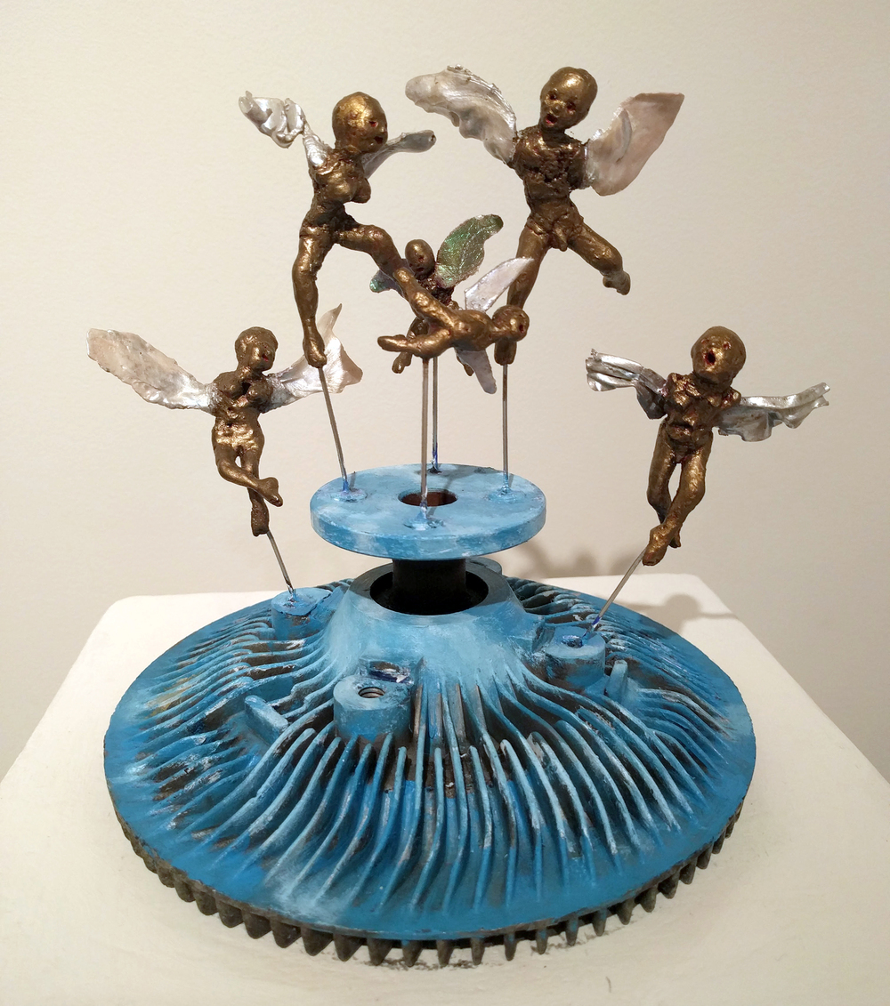 "Debra Friedkin ""Angels Dancing on the Heads of Pins"" 2015 mixed and found media, 9 x 10 x 8 in."