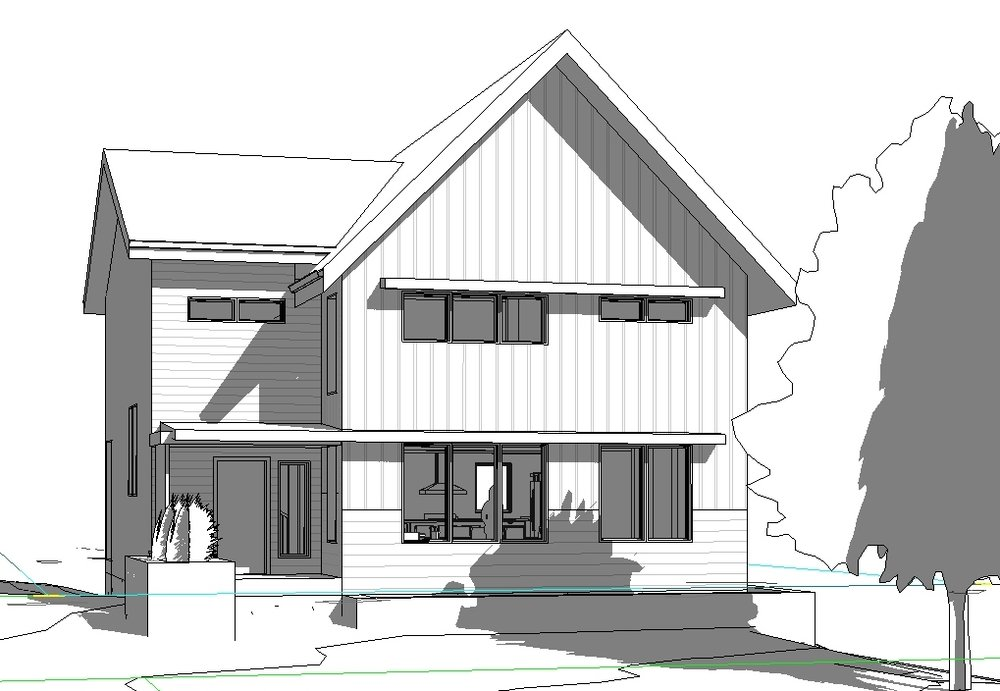 Initial passive house concept...