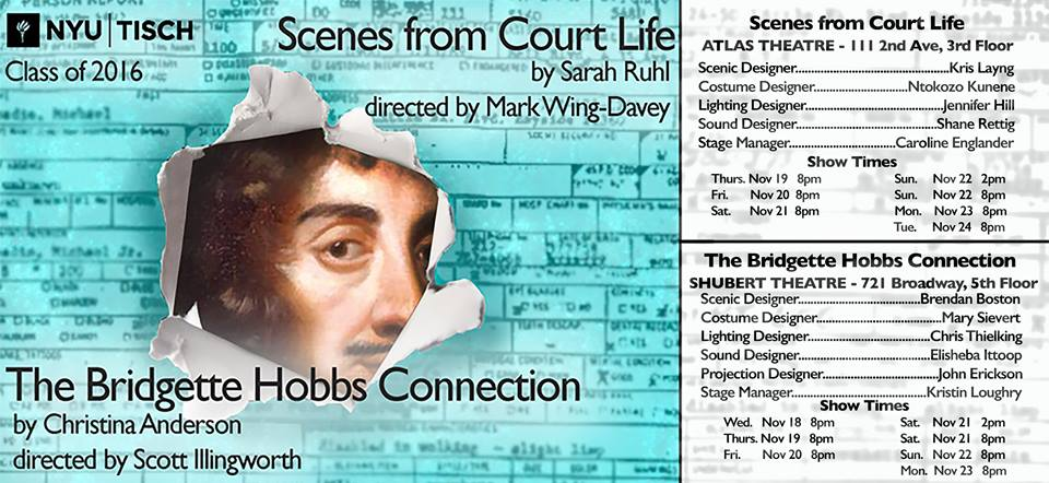 SCENES FROM COURT LIFE   NYU Grad Acting - OCT-NOV 2015. Assistant Directing.
