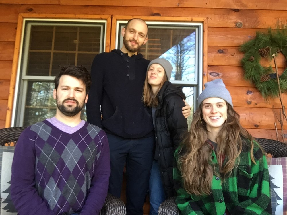 TV retreat! - DECEMBER 2017: TV (my theatre company with Brian Bock, Georgia King, and Michael Norton)went to the Adirondacks to workshop our new play set in a bathhouse.