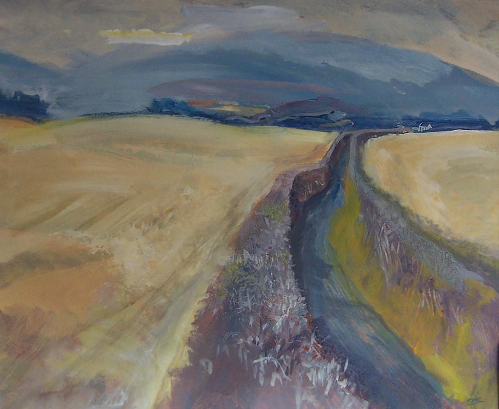 Lane line series- Clwyd harvest. Ltd edit print.jpg