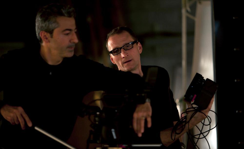 Founder & Executive Producer Roman Gackowski and Director of Photography Chris Kostianis on the set.