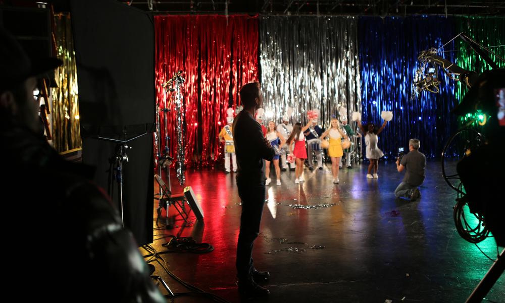 Founder & Executive Producer Roman Gackowski on the set.