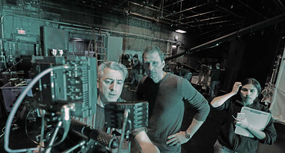 Director of Photography Chris Kostianis and Director Roman Gackowski.