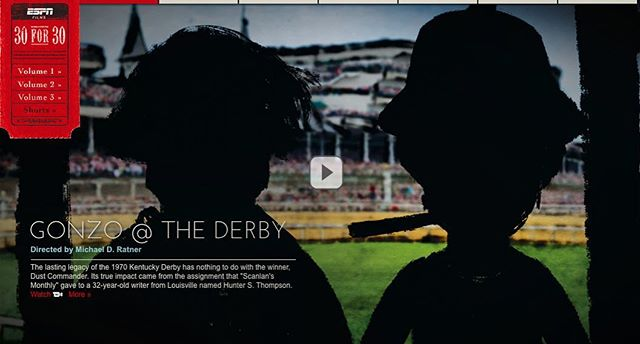 Gonzo @ The Derby, an OBB Pictures ESPN 30 for 30 short in association with @rgtvny is online now!  www.espn.com/30for30/shorts #documentary #espn #kentuckyderby #gonzo #seanpenn #sports