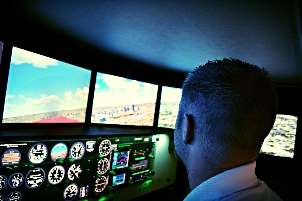 Training in Central'sFlight Simulator.
