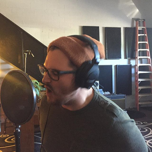 @corycoolstory going in at the #studio #vocals #synthrock We miss playing shows, but days like this are worth it!