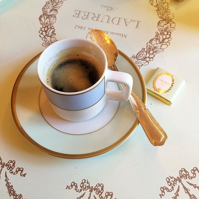 new moves & big plans on the horizon ✨ but first ☕️ #espresso #laduree #paris