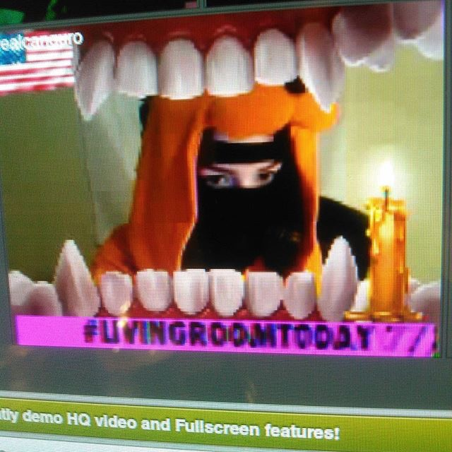 Online viewer logged into the #LIVINGROOMTODAY chatroom