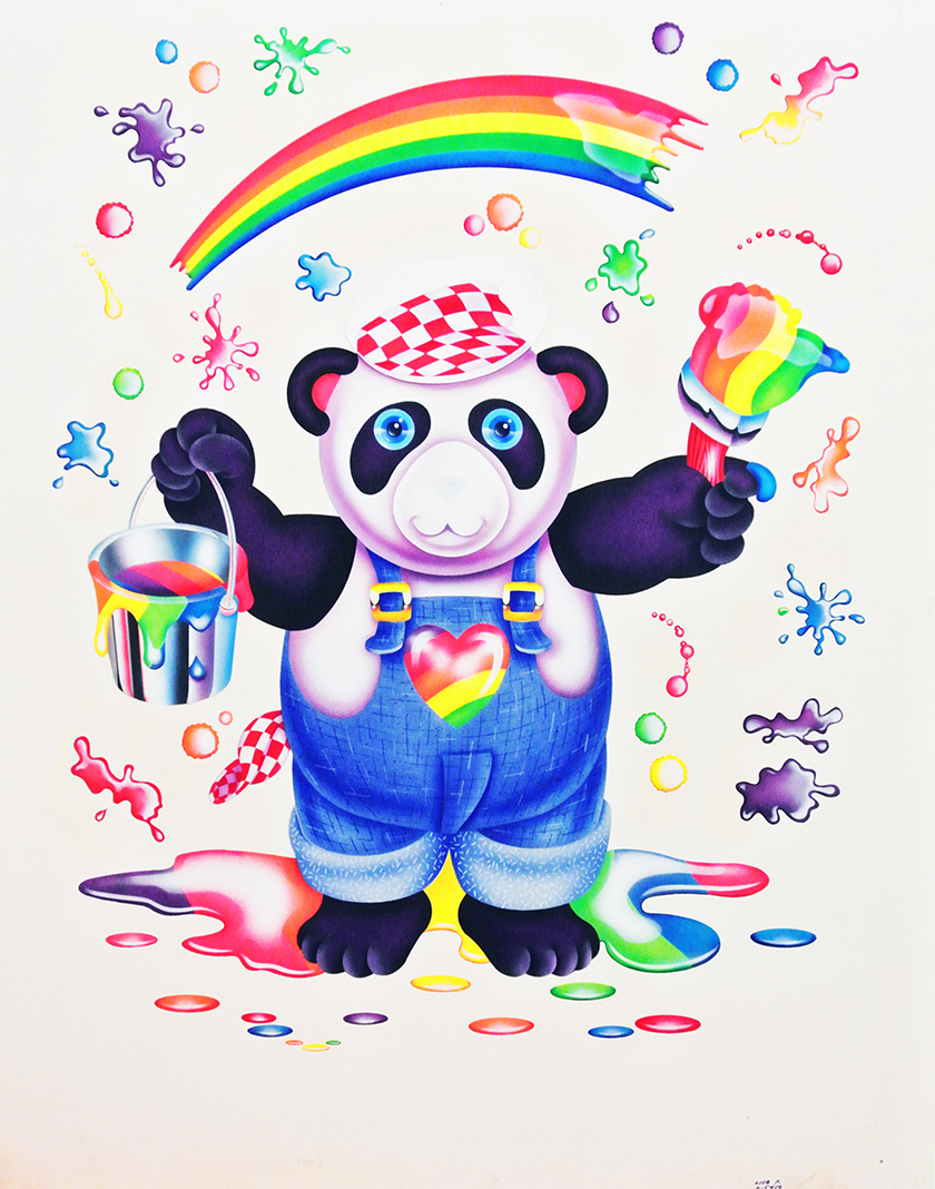 Early Lisa Frank, airbrush on paper.
