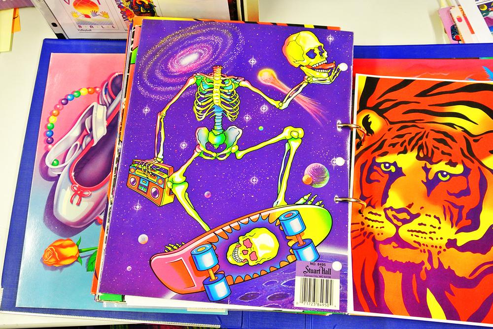 Lisa Frank folders from 1988.