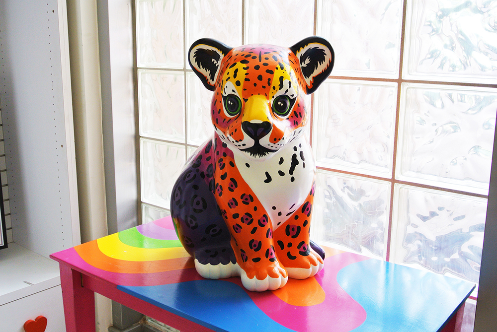 Many of Frank's designs are realized in 3-d at Lisa Frank HQ.