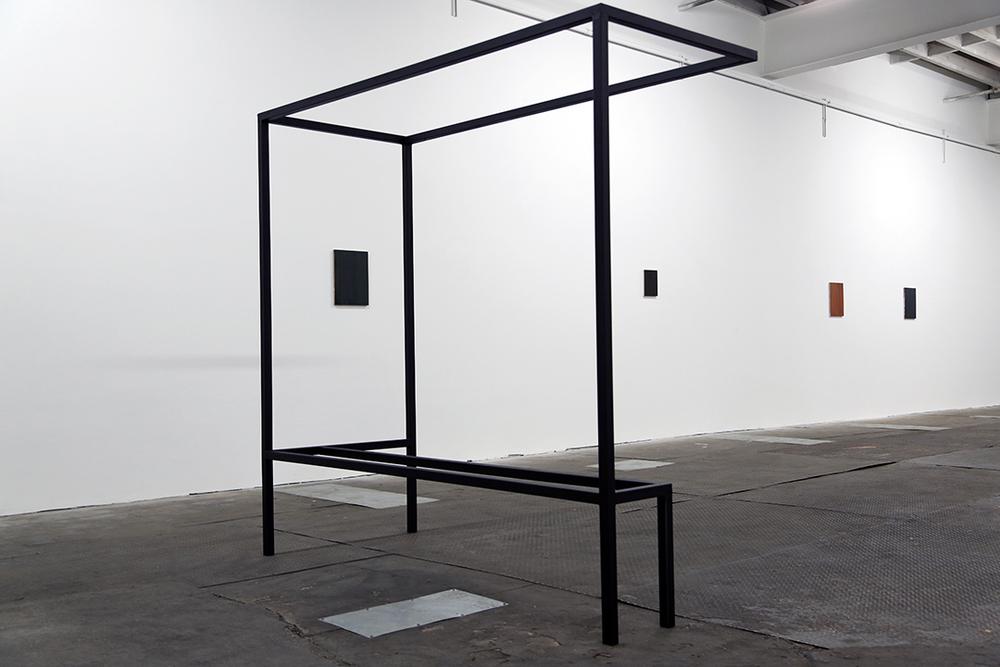 "Bennet Schlesinger ""Mary's Room, 2013, steel and oil."""