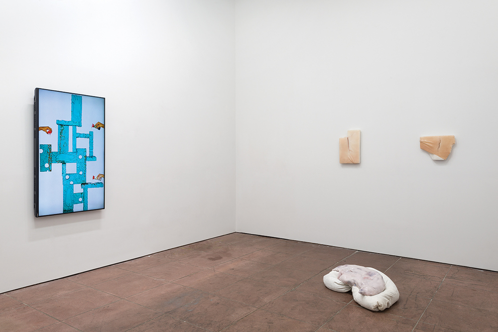 In the Flesh Part l: Subliminal Substances   , installation view, Martos Gallery, Los Angeles, 2015 (Left: Nicolas Lobo, Right: Ivana Basic)