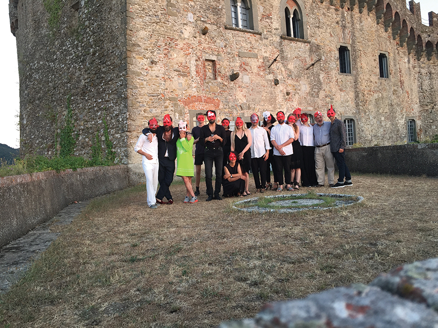 During Ylva Ogland's ritual dinner at the Castello Malaspina, July 2015