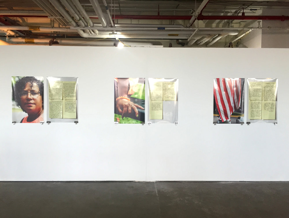 "Installation view of ""Not a Jersey Girl,"" 2016"