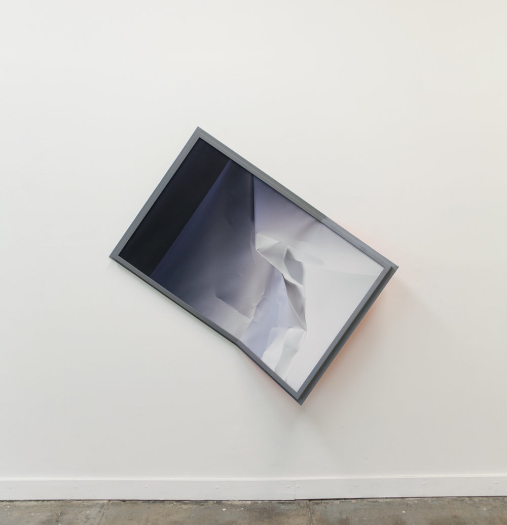 Gray energy, grey matter, 2015  Poplar, archival pigment print, acrylic polyurethane artist frame