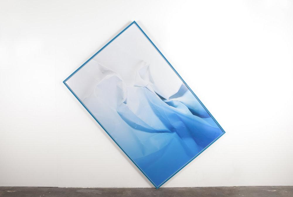 Fractals of dripping ether, 2015  Poplar, archival pigment print, acrylic polyurethane artist frame