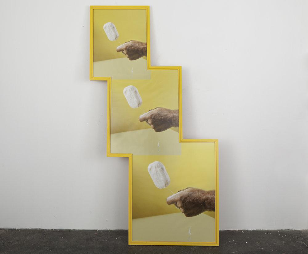 Slippery when wet, 2015  Poplar, archival pigment print in acrylic polyurethane artist frame