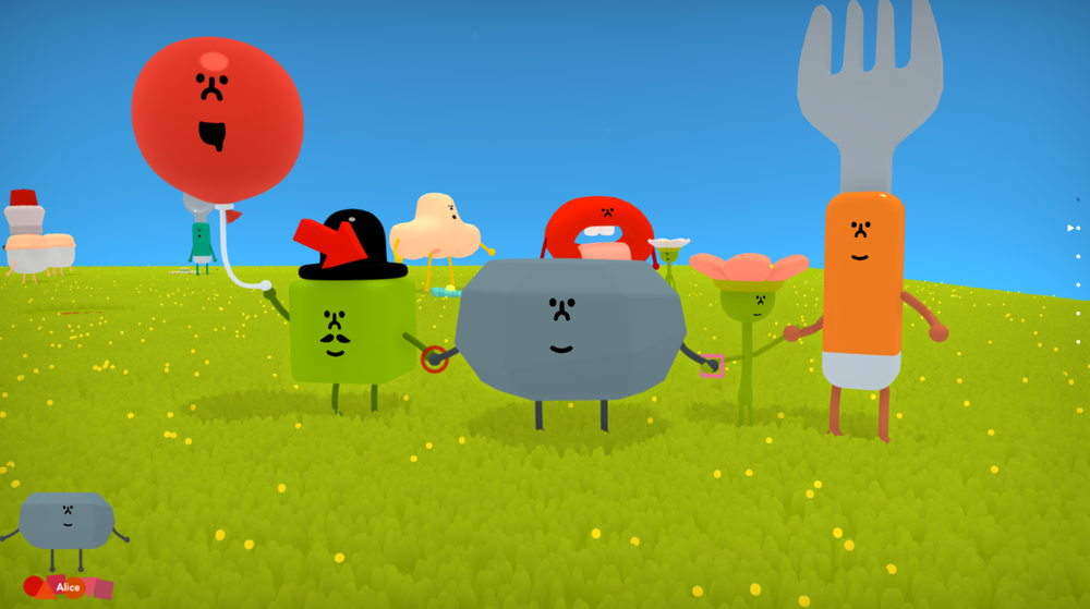 Explosions! - Build colorful and joyful explosions with as many characters as you can find